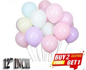 "12"" INCH STANDARD PASTEL BALLOONS - ALL COLOURS - 25's, 50's or 100's"