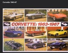Corvette 1963-1967 Stingray History - Out of Print Car Poster!! Own It!