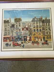 Rare Orig Signed and Numbered Lithograph by Michel DELACROIX 76/150.