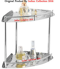 Multi Purpose Heavy Premium Range of Stainleess Steel Bathroom Corner Shelve