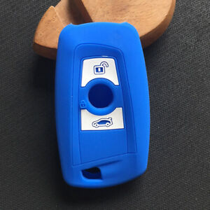 Fit  BMW 3 Buttons Remote Smart Key Fob Silicone Skin Case Cover