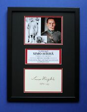 SIMO HAYHA AUTOGRAPH framed signed display WW2 Sniper White Death