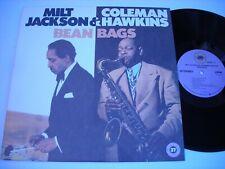 Milt Jackson & Coleman Hawkins Bean Bags 1985 Stereo LP VG++