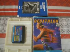 MSX VERY RARE Cartridge Activision DECATHLON 1984, complet , NIPPON MANUAL TBE