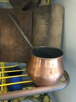 VINTAGE FRENCH Copper Pot,Extra Long Handle,1910-30s