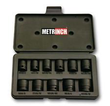 "METRINCH met-2450 impact Jeu de clés à douille long 1//2/"" Force Ecrou 15tlg inch met"