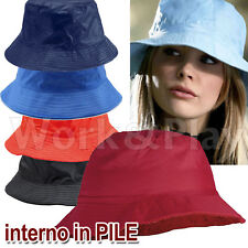 ATLANTIS cappello IMPERMEABILE anti pioggia BERRETTO Bianco NYLON hats RAINY