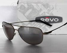 NEW REVO WINDSPEED POLARIZED AVIATOR SUNGLASSES Bronze frame/Bronze CRYSTAL lens