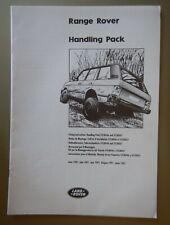 RANGE ROVER CLASSIC orig 1991 Handling Pack Fitting Instructions Brochure