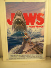 Original 1987 ROLLED 1-Sheet 27x41 Poster JAWS THE REVENGE ( 4th Film )