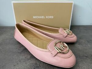 NEW Michael Kors Lillie Moccasin Flats Leather Slip Shoes 6,7,8,9,10 Smokey Rose