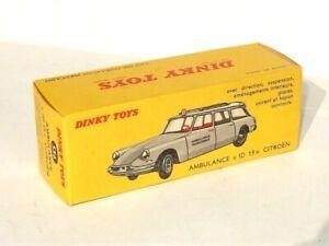 VRAIE Boîte D'ORIG vide Dinky Toys FRANCE 556 Citroen ID DS ambulance Etat NEUF