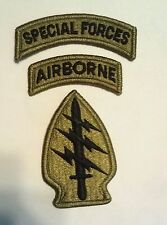 US Army Special Forces Patch & Special Forces & Airborne Tab OCP multicam Patch