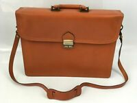 Tan Italian Genuine Leather Briefcase Office Laptop Bag, Borse in Pelle Quality