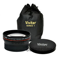 Vivitar 58mm 0.43x Wide Angle Lens for Canon 5D Mark II 5D Mark III 6D 7D 5D