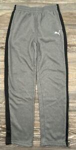 Puma Athletic Pants Youth Boy's 10/12 Grey/Black Fleece Lined #A0270819