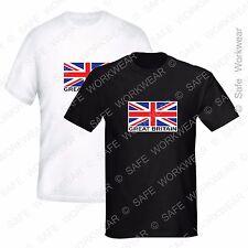 Union Jack T Shirt - Great Britain - UK Flag D1 - S to XXXL - Mens Ladies Unisex