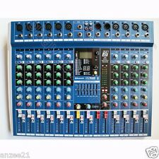 Micwl 10 Channel Studio Microphone Mixer Mixing Console 24-Bit Effect Processor