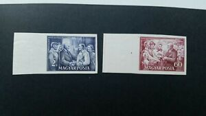 Hungary 1952    Michel 1221 + 1223  imperforated MNH