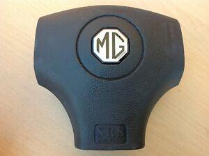 MG MGF MG TF LE500 SRS DRIVERS STEERING WHEEL BAG AIR SILVER LOGO NEW