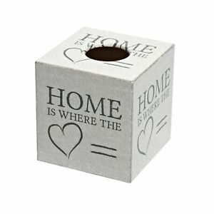 """""""Home Is Where The Heart Is"""" Tissue Box Cover - Handmade"""