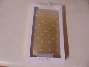 PHONE CASE BY INCIPIO FOR SAMSUNG GALAXY S9+ CLEAR AND GOLD WITH HEARTS DESIGN S