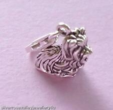 Yorkshire Terrier Dog Clip on Charm STERLING SILVER