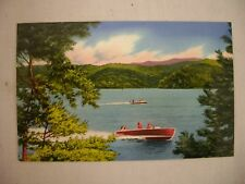 VINTAGE POSTCARD BOATERS ENJOYING PARKSVILLE LAKE ON OCOEE #1 IN TENNESSEE