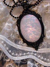GOTHIC large PENDANT ROMANTIC  #JR7no 38 MOONSTONE COSTUME STEAMPUNK Necklace