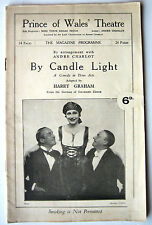 PROGRAMME PRINCE WALES THEATRE BY CANDLE LIGHT HARRY GRAHAM