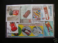 LOT TIMBRES SPORTS/LUGE ET BOBSLEIGH : 25 DIFFERENTS/SLEDDING SPORTS STAMPS