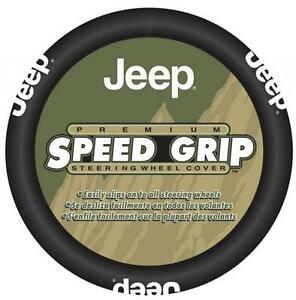 Jeep Mopar Premium Speed Grip Black STteering Wheel Cover