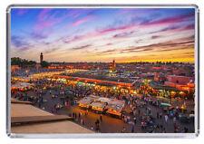 Jemaa el-Fnaa marrakech Morocco Fridge Magnet 01