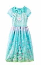 Disney's Frozen Fever Elsa Dress-Up Pajama PJ Nightgown Girls Size 8