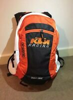 2018 KTM RACING STYLE MOTOCROSS DIRT BIKE BACKPACK OUTDOOR WHITE BAG RAIN COVER