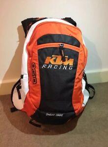 2021 KTM RACING STYLE MOTOCROSS DIRT BIKE BACKPACK OUTDOOR WHITE BAG RAIN COVER