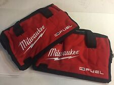 Lot of 2 Milwaukee Fuel 16 inch canvas bag 16in X 9in X 9in Brand New Heavy Duty