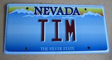 """NEVADA Vanity License Plate """" TIM """" TIMMIE TIMMY  TIMOTHY TIMBO  NV"""