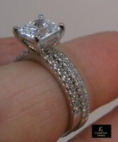 2.20 ct Princess-Cut Engagement Ring