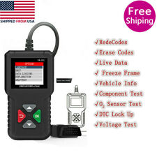 Car OBD2 Scanner Code Reader Battery Test ReadClear Codes OBDII Diagnostic Tool