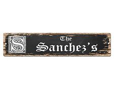 SP0470 The SANCHEZ'S Family name Plate Sign Bar Store Cafe Home Chic Decor
