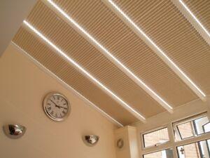 ENERGY SAVING Pleated Roof Blinds CONSERVATORY Solar Reflective Fabrics FREE P&P