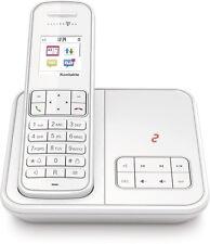 Telekom Sinus A406 Weiss Schnurlos Telefon mit Anrufbeantworter Schnurloses