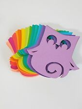 Neon Bright Colored Owl Die Cut Outs ( Scrap Booking, Embellishment, Party Deco)