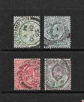 1902 King Edward VII SG217 to SG221 short set Great Postmarks Used GREAT BRITAIN