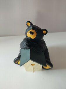 Bear Foots Black Bear with Birdhouse Figurine Gabe - Singing Tree Jeff Fleming