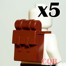 NEW Lego - Pirate Figure Accessory 5x Reddish Brown Solider Backpack Non-Opening