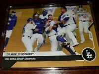 BONUS CARD 2020 Los Angeles Dodgers WN WORLD SERIES TOPPS NOW® Postseason
