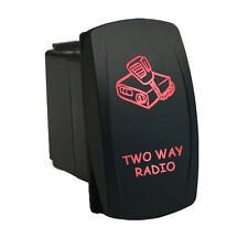 Rocker Switch 6B36R Laser TWO WAY RADIO dual backlit LED red ATV UTV offroad