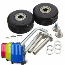 1 Pair Luggage Suitcase Replacement Wheels OD 40 x 18mm Axles 30 Repair Set